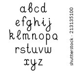 vector hand written alphabet   Shutterstock .eps vector #213135100