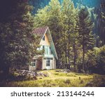 Small House In The Forest In...