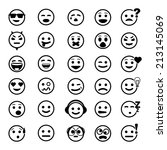 vector icons of smiley faces on ... | Shutterstock .eps vector #213145069