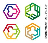 abstract hexagon logo pattern.... | Shutterstock .eps vector #213148519
