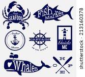 sea badges | Shutterstock .eps vector #213160378