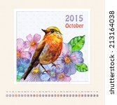 Calendar For October 2015 With...