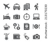 travel and tourism icon set ... | Shutterstock .eps vector #213170230