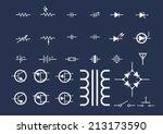 electronic symbols | Shutterstock .eps vector #213173590