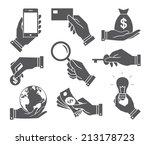 vector flat design hands with... | Shutterstock .eps vector #213178723