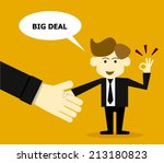 big deal concept | Shutterstock .eps vector #213180823