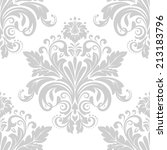 damask seamless floral pattern. ...   Shutterstock .eps vector #213183796