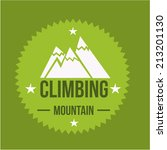 a climbing label with some text ... | Shutterstock .eps vector #213201130