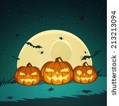 halloween pumpkins  | Shutterstock .eps vector #213213094