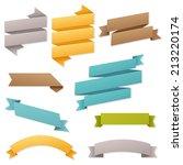 web ribbons set  vector... | Shutterstock .eps vector #213220174