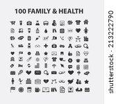 100 family  love  health... | Shutterstock .eps vector #213222790