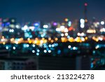 city light blur bokeh ... | Shutterstock . vector #213224278