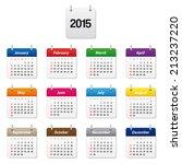 calendar 2015. vector available. | Shutterstock . vector #213237220