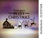 christmas design over blur... | Shutterstock .eps vector #213237268