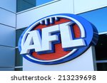 Small photo of MELBOURNE AUSTRALIA - AUGUST 23, 2014: AFL Australian football - AFL, Australian Football League is the highest-level professional competition in the sport of Australian rules football.