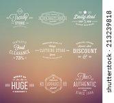 retro typography abstract... | Shutterstock .eps vector #213239818