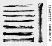 set of grungy vector mascara... | Shutterstock .eps vector #213239989