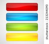 web buttons set | Shutterstock .eps vector #213244090