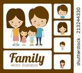 family design over brown... | Shutterstock .eps vector #213244330