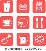 set of food vector icon. eps10 | Shutterstock .eps vector #213249790