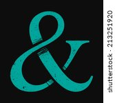 ampersand vector icon | Shutterstock .eps vector #213251920