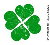 four leaf clover vector icon | Shutterstock .eps vector #213252229
