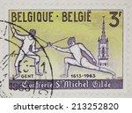 belgium   circa 1963  a... | Shutterstock . vector #213252820