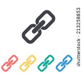 link icon   vector illustration | Shutterstock .eps vector #213258853