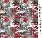 abstract art grunge seamless...   Shutterstock . vector #213263410