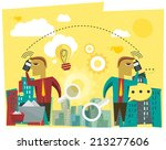 business discussion  ... | Shutterstock .eps vector #213277606