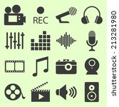 series of video related icons | Shutterstock .eps vector #213281980