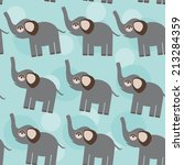 elephant seamless pattern with... | Shutterstock . vector #213284359