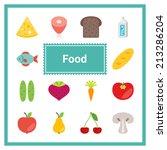 flat food icons set. perfect...