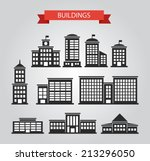 set of vector flat design... | Shutterstock .eps vector #213296050