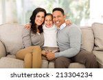 happy family sitting on the... | Shutterstock . vector #213304234