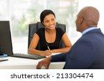 modern business partners having ... | Shutterstock . vector #213304474