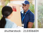 friendly young african american ... | Shutterstock . vector #213306604