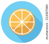 orange icon. flat design style