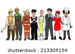 children wearing future job... | Shutterstock . vector #213309154