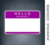 violet color name tag blank... | Shutterstock .eps vector #213314836