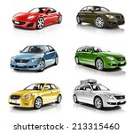 collection of 3d cars isolated | Shutterstock . vector #213315460