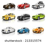 collection of 3d cars isolated | Shutterstock . vector #213315574
