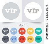 vip sign icon. membership... | Shutterstock . vector #213321076