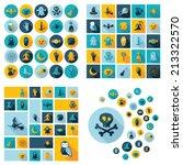 halloween symbols collection.... | Shutterstock . vector #213322570