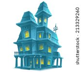 preview scary haunted house in... | Shutterstock .eps vector #213329260