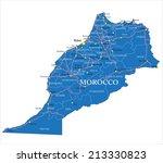 morocco map | Shutterstock .eps vector #213330823