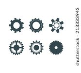 illustration black  gears ... | Shutterstock . vector #213333943