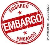 embargo stamp | Shutterstock .eps vector #213335320