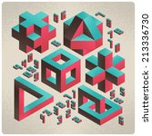 isometric abstract geometry... | Shutterstock .eps vector #213336730