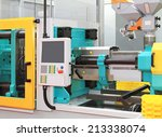 injection moulding machine for... | Shutterstock . vector #213338074